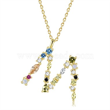 925 Sterling Silver Pendant Necklaces(NJEW-BB44288-M-G)-1