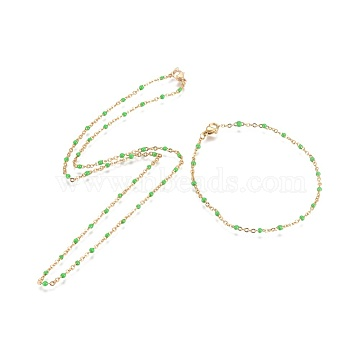 Lime Stainless Steel Bracelets & Necklaces