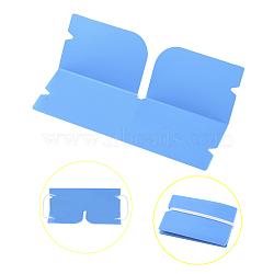 Organisateur de clip de rangement en plastique pliable portable, pour couvre-bouche jetable, bleu foncé, 190x120x0.3mm(AJEW-E034-71G)