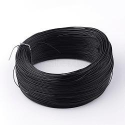 железные провода, с резиновым покрытием, черный, 18 датчик, 1 мм; 200 ярдов / рулон(MW-R002-02)