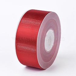 "Rubans satin polyester avec double face, firebrick, 1-1/2"" (38 mm); environ 100yards / rouleau (91.44m / rouleau)(SRIB-P012-A10-38mm)"