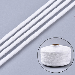 Round Polyester & Spandex Elastic Band for Mouth Cover Ear Loop, DIY Disposable Mouth Cover Material, White, 2.8mm; about 1548yards/roll(4644feet/roll)(OCOR-Q054-02)