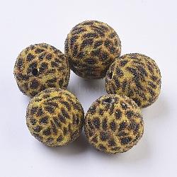 Perles Indonésiennes manuelles, rond, darkgoldenrod, 19~20mm, Trou: 2mm(IPDL-E009-B01)