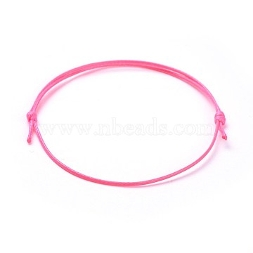 HotPink Waxed Polyester Cord Bracelet Making