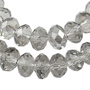 10mm Clear Abacus Electroplate Glass Beads
