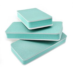 Double-sided Polish Strip File, Burnishing Stick, Sandpaper Nail Buffer, Rectangle, Aqua, 9x4x1.4cm(MRMJ-E005-14)