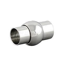 Fermoirs magnétiques en laiton de canon, platine, 16x10mm, Trou: 6mm(X-KK-S097-04)