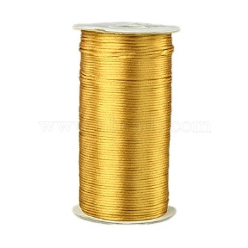 Eco-Friendly 100% Polyester Thread, Rattail Satin Cord, for Chinese Knotting, Beading, Jewelry Making, Peru, 2mm; about 250yards/roll(228.6m/roll), 750 feet/roll(NWIR-G014-563)