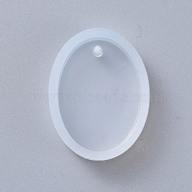 Oval Shape DIY Silicone Pendant Molds(AJEW-P038-01)-3