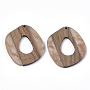 Linen Others Resin+Wood Pendants(X-RESI-S358-51)