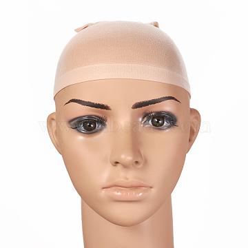 Elastic Wig Caps, Stocking Wig Caps, for Lace Front Wigs,  Kids/Men/Women, Long and Short Hair, Blue, 16cm, 2pcs/set(OHAR-E011-06B)