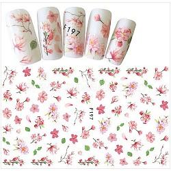 Stickers autocollants à ongles, pour la conception d'art d'ongle, motif de fleur, colorées(MRMJ-G005-05C)