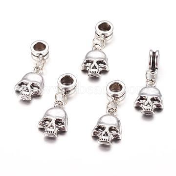 29mm Skull Alloy Dangle Beads