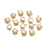 Golden Heart Stainless Steel Charms(STAS-F222-021G)
