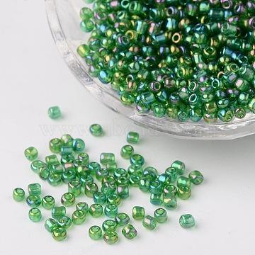 3mm Green Glass Beads