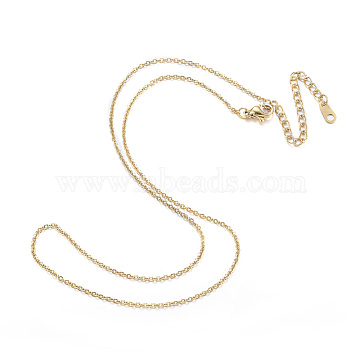 304 Stainless Steel Necklaces, Cable Chain Necklaces, Golden, 17.32 inches(44cm)(X-NJEW-E080-10G)
