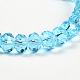 Faceted Rondelle Imitation Austrian Crystal Glass Bead Strands(G-PH0009-10-6x4mm)-4