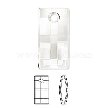Austrian Crystal Rhinestone, 6696, Crystal Passions, Faceted, Urban Pendant, 001_Crystal, 30x22x8mm, Hole: 2mm(6696-30mm-001(U))