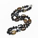 Natural Black Agate Beaded Necklaces(NJEW-S394-02)-1
