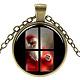 Christmas Theme Glass Pendant Necklaces(NJEW-J056-B963-AB)-1