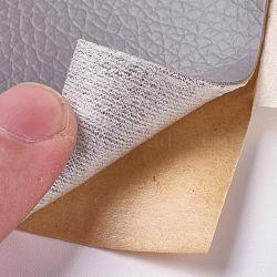 tissu en cuir d'unité centrale, avec dos adhésif, pour canapés, sièges de voiture, sacs à main, vestes, patch de premiers secours, gris, 76x1 mm; à propos de 152 cm / roll(AJEW-WH0105-78C)