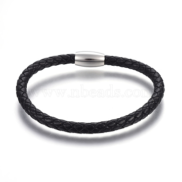 Black Leather Bracelets