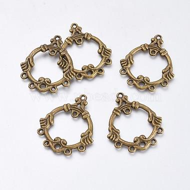 Antique Bronze Ring Alloy Links