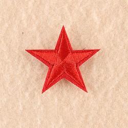 fer à repasser informatisé / coudre des patchs, accessoires de costumes, appliques, étoiles, rouge, 3x3 cm(X-DIY-F030-11-03)