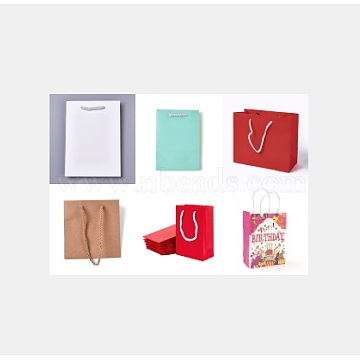 Paper Gift Bags, Mixed Color, 5.9~28x5.8~32x8~11.5cm(CARB-MSMC002-01)