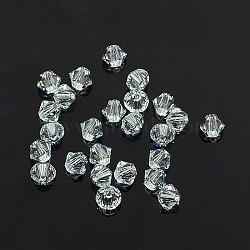 perles de cristal autrichien, 5301 4 mm, Toupie, lumière azore, taille: environ 4 mm de long, 4 mm de large, trou: 1 mm(X-5301_4mm361)