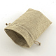 Polyester Imitation Burlap Packing Pouches Drawstring Bags(ABAG-R004-14x10cm-05)-3