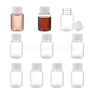 30ML PET Plastic Jar with Screw Top Lids, Refillable Bottles, for Spices or DIY Projects, Clear, 5.9x3.35cm; Capacity: 30ml(AJEW-TAC0020-05)