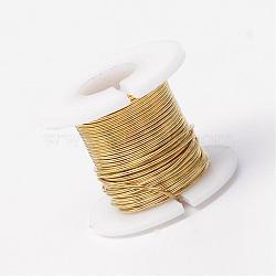 Fil de bijoux en cuivre, or, 26 jauge, 0.4 mm; 30 m / rouleau(CWIR-R004-0.4mm-10)