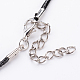 Antique Silver Alloy Heart Waxed Cord Pendant Necklaces(NJEW-J054-01)-3