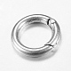 Tibetan Style Alloy Spring Gate Rings(X-TIBE-T002-28AS-RS)-2