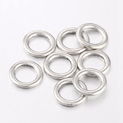 Anneaux connecteurs en alliage, sans plomb et sans cadmium, argent antique, donut, 14.5 mm de diamètre, épaisseur de 2mm, Trou: 10mm(X-EA499Y)