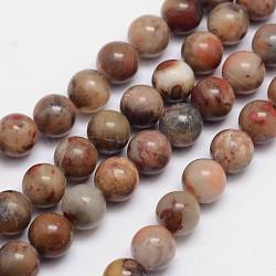 """Ronds de perles de jaspe arc-en-ciel rouge naturel, 8mm, trou: 1mm; environ 49 pcs/chapelet, 15.74""""(X-G-L419-14)"""