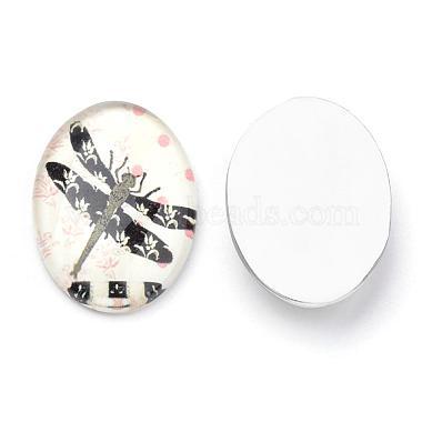 Flatback Glass Cabochons(GGLA-S034-25x18-007)-2
