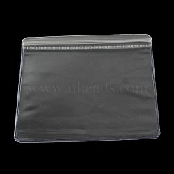 Pvc carré zip lock sacs, sacs d'emballage refermables, clair, 12x12 cm(OPP-R005-12x12)