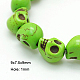 1 Strand Synthetic Howlite Skull Beads for Halloween Jewelry(X-TURQ-E006-02)-1