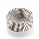 304 Stainless Steel Finger Ring Settings(X-MAK-R010-18mm)-2