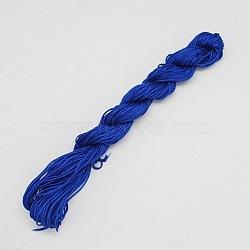 10M fil de bijoux en nylon, corde de nylon pour les bracelets personnalisés tissés faisant, bleu, 2mm(X-NWIR-R002-2mm-1)