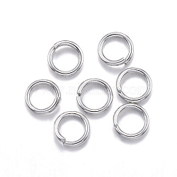 304 Stainless Steel Jump Rings, Close but Unsoldered, Stainless Steel Color, 24 Gauge, 3x0.5mm; Inner Diameter: 2mm(X-STAS-E113-18P)