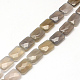 Faceted Rectangle Natural Grey Agate Beads Strands(X-G-R304-08)-1