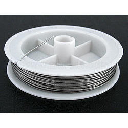 Tiger Tail Wire, Nylon-coated Steel, LightGrey, 0.3mm; about 50m/roll(X-TWIR-0.3D)