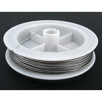 Tiger Tail Wire, Nylon-coated Steel, Light Grey, 0.3mm, about 164.04 Feet(50m)/roll(X-TWIR-0.3D)
