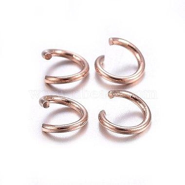 304 Stainless Steel Jump Rings(X-STAS-O107-06RG-B)-2
