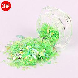Flocons de coquille de couleur bonbon, manucure nail art décoration, paillettes pour ongles, lime, 3x1.5 cm(MRMJ-L001-27C)
