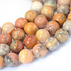 Natural Crazy Agate Round Bead Strands, 6~6.5mm, Hole: 1mm; about 63pcs/strand, 15.5inches