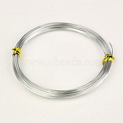 Fils d'aluminium, argenterie, 18 jauge, 1.0mm, 10m/rouleau(X-AW-AW10x1.0mm-01)